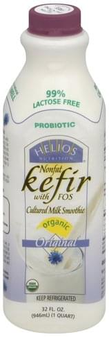 Helios Nonfat, with FOS, Organic, Original Kefir - 32 oz
