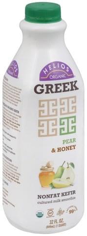 Helios Greek, Nonfat, Pear & Honey Kefir Cultured Milk Smoothie - 32 oz