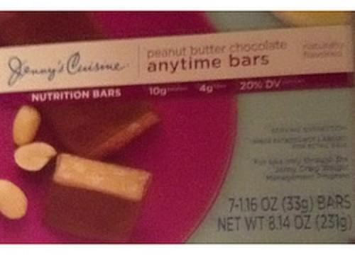 Jenny's Cuisine Peanut Butter Chocolate Anytime Bars - 33 g