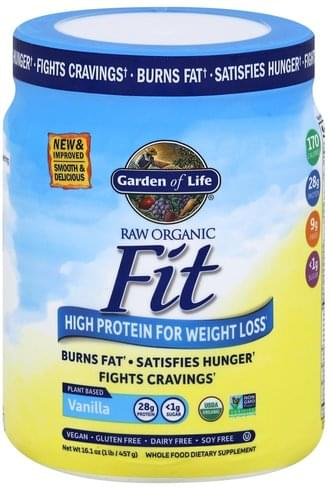 Garden of Life for Weight Loss, Organic, Vanilla High Protein Shake - 16.1 oz
