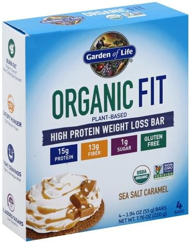 Garden Of Life Weight Loss, Sea Salt Caramel High Protein Bar - 4 ea