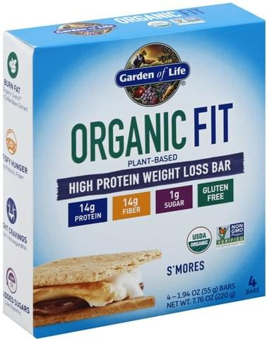 Garden Of Life Weight Loss, S'mores High Protein Bar - 4 ea