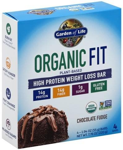 Garden Of Life Weight Loss, Chocolate Fudge High Protein Bar - 4 ea