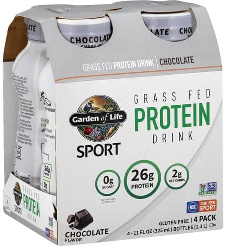 Garden Of Life Chocolate, 4 Pack Protein Drink - 4 ea
