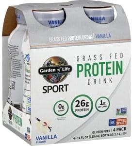 Garden Of Life Protein Drink Vanilla, 4 Pack