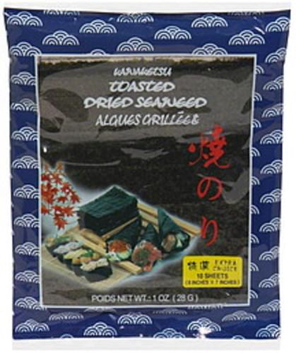 Kawaketsu Toasted Dried Seaweed - 1 oz