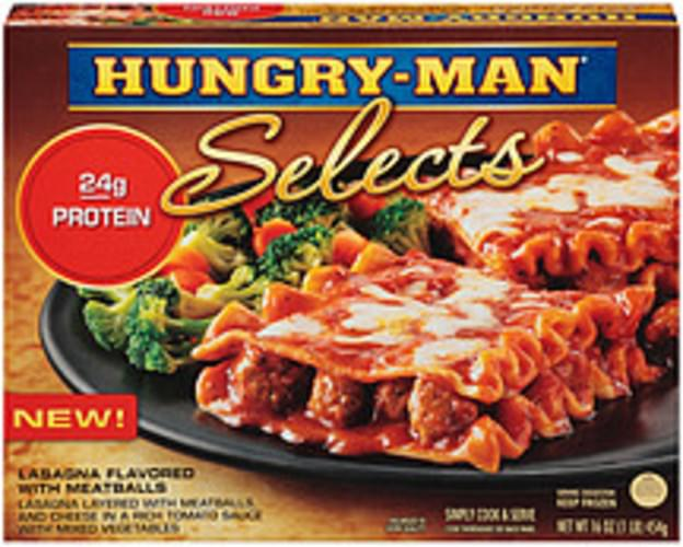 Hungry-man Selects Flavored With Meatballs Lasagna - 16 oz