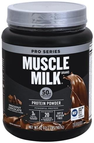 Muscle Milk Knockout Chocolate Protein Powder - 32 oz