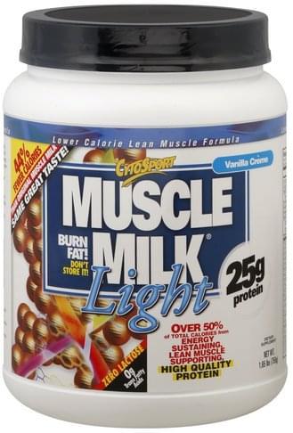Muscle Milk Lower Calorie, Vanilla Creme Lean Muscle Formula - 1.65 lb