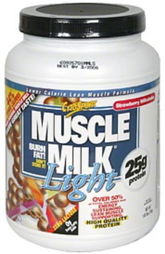 Muscle Milk Strawberry Milkshake Lower Calorie Lean Muscle Formula - 1.65 lb