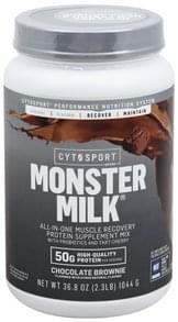 Cytosport Protein Supplement Mix Monster Milk, Chocolate Brownie
