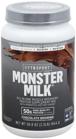 Cytosport Monster Milk, Chocolate Brownie Protein Supplement Mix - 36.8 oz