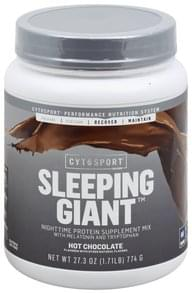 CytoSport Protein Supplement Mix Nighttime, Sleeping Giant, Hot Chocolate