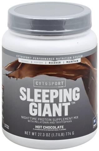 CytoSport Nighttime, Sleeping Giant, Hot Chocolate Protein Supplement Mix - 27.3 oz