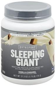 CytoSport Protein Supplement Mix Nighttime, Sleeping Giant, Vanilla Caramel