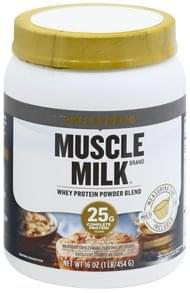 Muscle Milk Whey Protein Powder Blend Unflavored