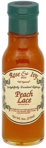 Rose & Ivy Peach Lace with Grand Marnier Dessert Topping - 9 oz