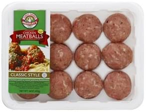 Murrays Meatballs Chicken, Uncooked, Classic Style