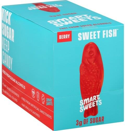 Smart Sweets Berry, Sweet Fish Candy - 12 ea