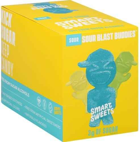 Smart Sweets Sour, Blast Buddies Candy - 12 ea