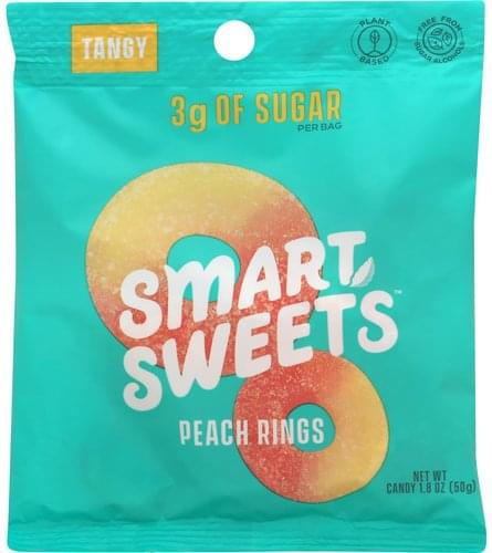 Smart Sweets Tangy, Peach Rings Candy - 1.8 oz