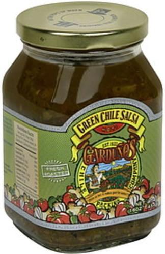 Gardunos Green Chile, Hot Salsa - 16 oz