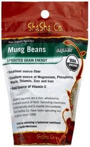 ShaSha Mung Beans Raw Organic Sprouted