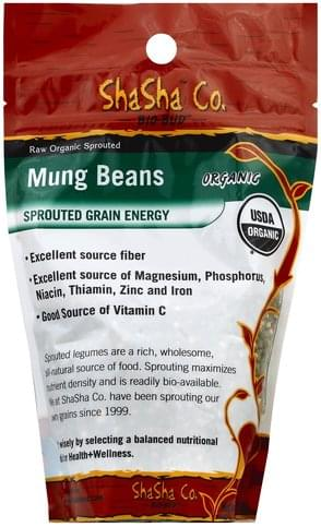 ShaSha Raw Organic Sprouted Mung Beans - 1 lb
