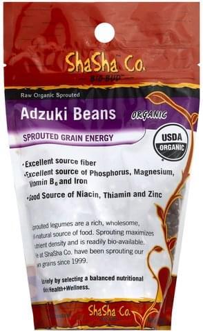 ShaSha Raw Organic Sprouted Adzuki Beans - 1 lb