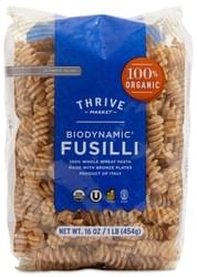 Thrive Market Organic Biodynamic Whole Wheat Fusilli