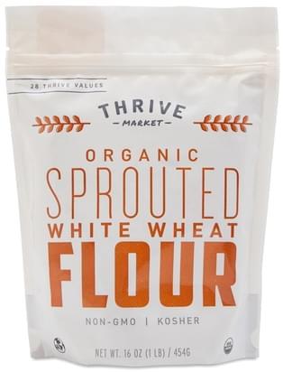 Thrive Market Organic Sprouted White Wheat Flour - 16 oz