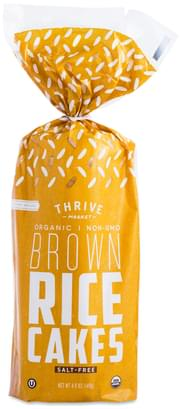 Thrive Market Salt-free Organic Whole Grain Rice Cakes - 4.09 oz