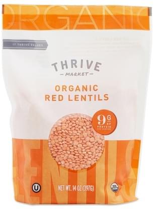 Thrive Market Organic Dried Red Lentils - 14 oz