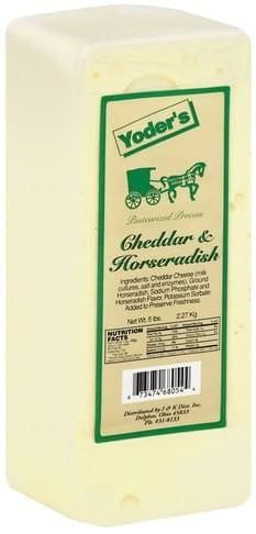 Yoders Cheddar & Horseradish Cheese - 5 lb, Nutrition Information