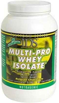 IDS Multi-Pro Whey Isolate Nutragenic, Belgian Chocolate