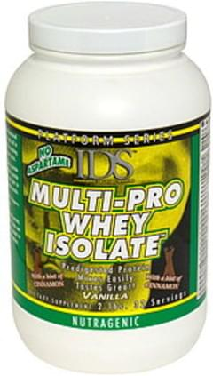 IDS Multi-Pro Whey Isolate Nutragenic, Vanilla with a Hint of Cinnamon