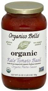 Organico Bello Pasta Sauce Organic, Kale Tomato Basil