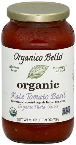 Organico Bello Organic, Kale Tomato Basil Pasta Sauce - 25 oz