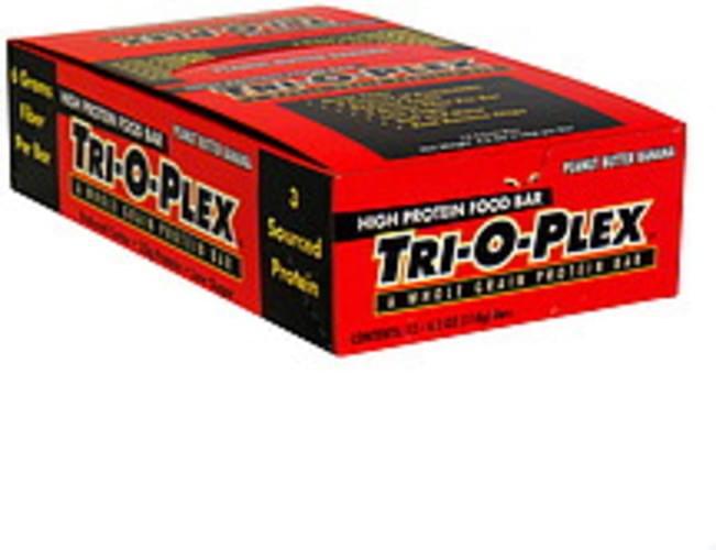 Tri-O-Plex Peanut butter Banana High Protein Food Bar - 12 ea
