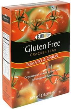 Glutino Cracker Flax Gluten Free, Tomato & Onion
