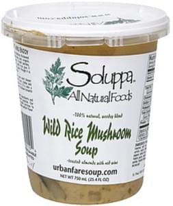 Soluppa Wild Rice Mushroom Soup Toasted Almonds with Red Wine