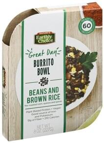 Natures Earthly Choice Burrito Bowl Beans and Brown Rice