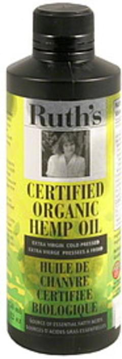 Ruths Certified Organic Hemp Oil Extra Virgin Cold Pressed