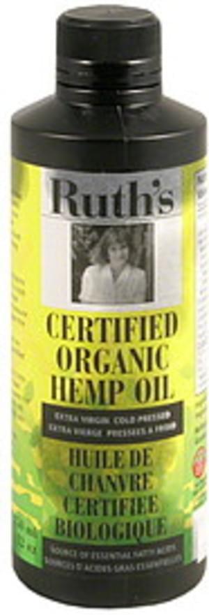 Ruths Extra Virgin Cold Pressed Certified Organic Hemp Oil - 12 oz
