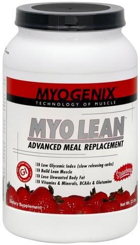 Myogenix Myo Lean, Strawberry Advanced Meal Replacement - 2.5 lb