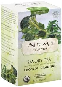 Numi Green Tea Broccoli Cilantro, Decaffeinated, Tea Bags
