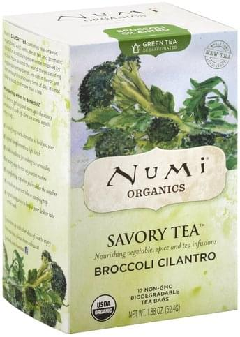 Numi Broccoli Cilantro, Decaffeinated, Tea Bags Green Tea - 12 ea