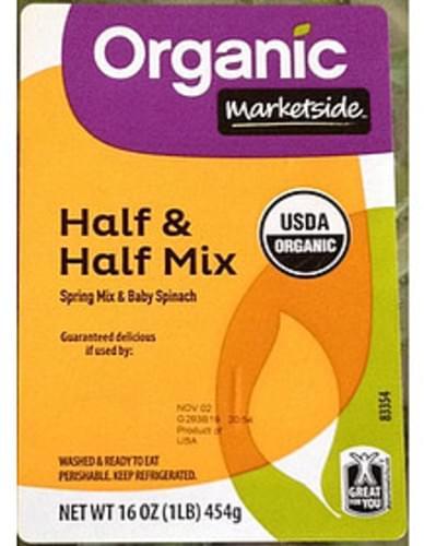 Marketside Half & Half Mix Spring Mix & Baby Spinach - 85 g
