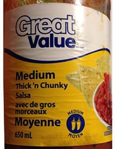 Great Value Thick 'n Chunky Salsa Medium