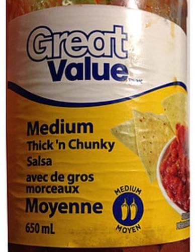 Great Value Medium Thick 'n Chunky Salsa - 60 ml